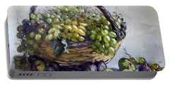 Fresh Grapes And Figs From Lida's Garden Portable Battery Charger
