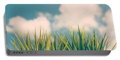 Fresh Green Grass Portable Battery Charger