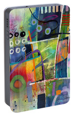 Portable Battery Charger featuring the painting Fresh Jazz by Hailey E Herrera