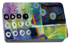 Portable Battery Charger featuring the painting Fresh Jazz In A Square 2 by Hailey E Herrera