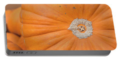 Portable Battery Charger featuring the photograph Fresh Organic Orange Giant Pumking Harvesting From Farm At Farme by Jingjits Photography