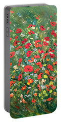 Fresh Poppies From The Garden Portable Battery Charger by Dorothy Maier