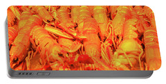 Fresh Shell Fish For Sale Portable Battery Charger by Allan Levin