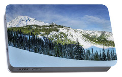 Portable Battery Charger featuring the photograph Fresh Snow At Mount Rainier by Dan Mihai