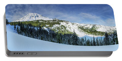 Fresh Snow At Mount Rainier Portable Battery Charger