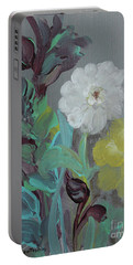 Portable Battery Charger featuring the painting Fresh Start  by Robin Maria Pedrero