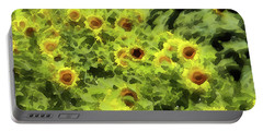 Fresh Sunflowers Portable Battery Charger