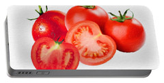 Fresh Tomatoes Portable Battery Charger by Gabriella Weninger - David