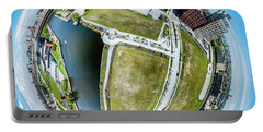 Portable Battery Charger featuring the photograph Freshwater Way Little Planet by Randy Scherkenbach