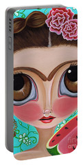 Frida And The Watermelon Portable Battery Charger