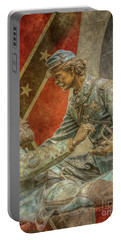 Friend To Friend Monument Gettysburg Flags Portable Battery Charger
