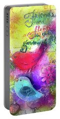 Portable Battery Charger featuring the digital art Friends Always by Claire Bull