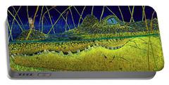 Swamp Gathering Portable Battery Charger by David Joyner