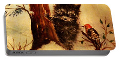 Portable Battery Charger featuring the painting Friends Forever by Hazel Holland