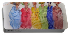 The Crazy Hat Society Portable Battery Charger by Marilyn Jacobson