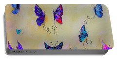 Friends Of Butterflies And Fairies Painting Portable Battery Charger