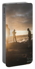 Friends On Sunset Portable Battery Charger by Jorgo Photography - Wall Art Gallery