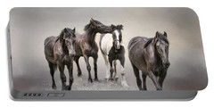 Friesian Horses The Boys And Baby Sister Portable Battery Charger