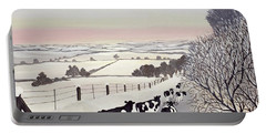 Friesians In Winter Portable Battery Charger