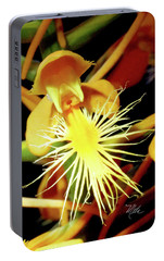 Portable Battery Charger featuring the photograph Fringed Yellow Orchid by Meta Gatschenberger
