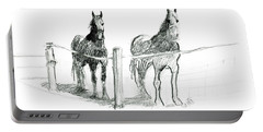 Friesian Horses Portable Battery Charger
