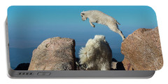 Leaping Baby Mountain Goat Portable Battery Charger
