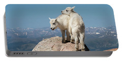 Frisky Mountain Goat Babies Portable Battery Charger