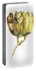 Portable Battery Charger featuring the painting Fritillaria by Frances Marino