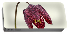 Fritillaria Meleagris - Cream Background Portable Battery Charger