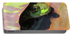 Frog Between Lily Pads Portable Battery Charger