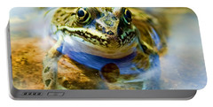 Frog In Pond Portable Battery Charger