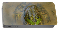 Frog Of Lake Redman Portable Battery Charger by Donald C Morgan