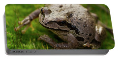 Portable Battery Charger featuring the photograph Frog On The Grass by Jean Noren