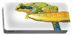 Frog Sitting On A Toad-stool Portable Battery Charger