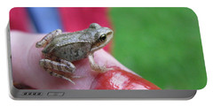 Portable Battery Charger featuring the photograph Frog The Prince by Ausra Huntington nee Paulauskaite