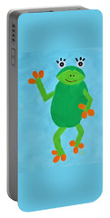 Portable Battery Charger featuring the painting Froggie by Deborah Boyd