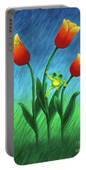 Froggy Tulips Portable Battery Charger
