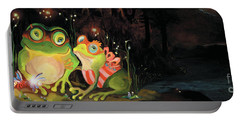 Frogs At Silver Lake Portable Battery Charger