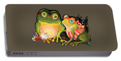 Frogs Transparent Background Portable Battery Charger