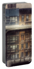 Portable Battery Charger featuring the photograph From My Window - A Snowy Day In New York by Miriam Danar