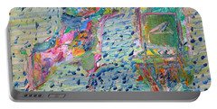 Portable Battery Charger featuring the painting From The Altered City by Fabrizio Cassetta