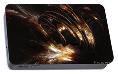 Portable Battery Charger featuring the digital art From The Beyond by Isabella F Abbie Shores FRSA