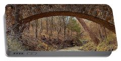 Portable Battery Charger featuring the photograph From Under Rock Creek Bridge In Winter by Sheila Brown