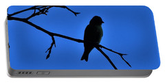 Blue Bird On Blue Portable Battery Charger