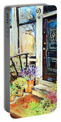 Front Porch Portable Battery Charger by Linda Shackelford