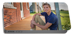 Portable Battery Charger featuring the photograph Front Porch Portrait by Bill Pevlor