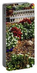 Front Yard Flowers Portable Battery Charger