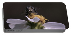 Frontal View Of A Bee On A Flower Portable Battery Charger