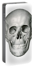 Frontal View Of Human Skull Portable Battery Charger