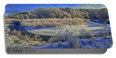 Frost Along The Creek - Panorama Portable Battery Charger